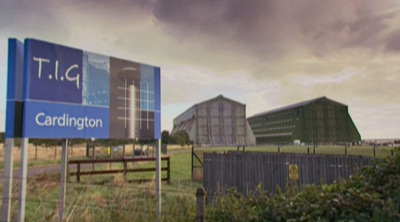 Cardington Sheds (still from Batman Begins Extras DVD release)