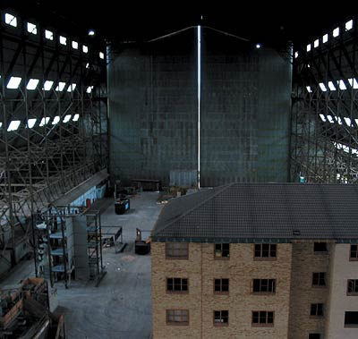 Cardington Hangars (still from Batman Begins Extras DVD release)