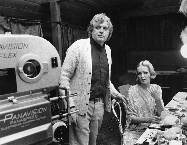 Ken Russell and Twiggy on the set at Elstree (courtesy George Darlow)