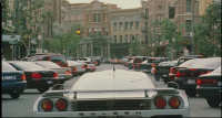 Bruce Almighty - 12 - Stunt sequence on New York Street (still from DVD release)
