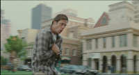 Bruce Almighty - 9 - Bruce runs across a digitally extended Courthouse Square (still from DVD release)
