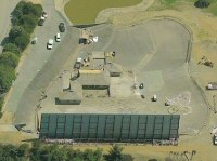 Hulk - 3 - Aerial photo (from Windows Live Local) of the Hulk setup at Falls Lake from the South