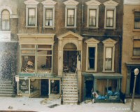 Moonwalker - Stills and exclusive on-set photos - 13 - Brownstone Street house the day after filming Mr Big