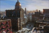 Newsies Stills - 2 - Matte painting by Illusion Arts.