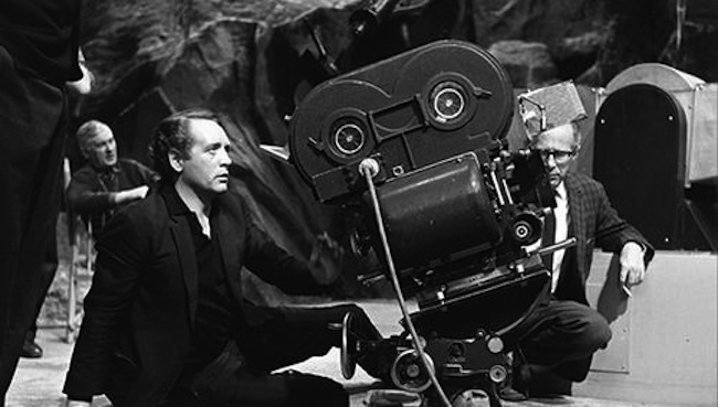 Patrick McGoohan directing the final episode of The Prisoner on a soundstage at MGM British Studios
