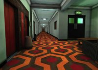 The Shining - 1 - Interior set of The Overlook Hotel