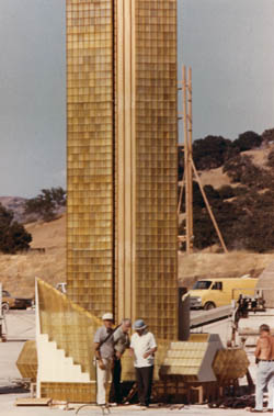 The Towering Inferno - 2 - Tower model at the Fox Ranch (Photo by Joseph Musso courtesy of Ryan Thoryk)