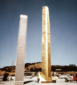 The Towering Inferno - 3 - Tower model at the Fox Ranch (Photo by Scott Crabbe courtesy of Ryan Thoryk)