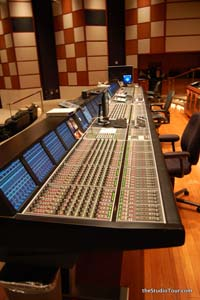 Sound Mixing Desk at Universal Studios Hollywood (2010)