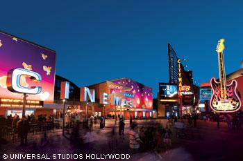 the universal studios hollywood citywalk
