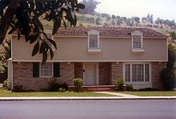 The Cleaver residence, pictured on new Colonial Street in the early 1980s (photo by Bob Bergen)