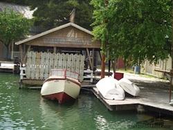 Ben Gardner's boat in Jaws Lake, 2005