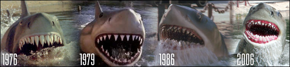 Jaws through the ages (courtesy Scott Weller)