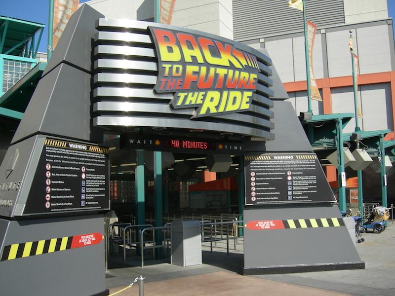 Back To The Future Universal Studios Tour