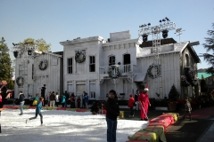 2009 Grinchmas ice rink in the former Wild West Show arena (now Universal Plaza)