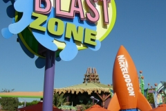 Overview of the Nickelodeon Blast Zone with the repainted rocket (Septem
