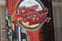 Fast & Furious: Tokyo Drift banner outside the entrance, June 2006