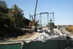 Main show building construction begins (December 2009)