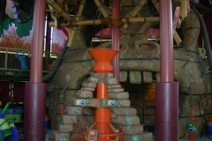 Cannon ready to be loaded with foam balls (September 2006)