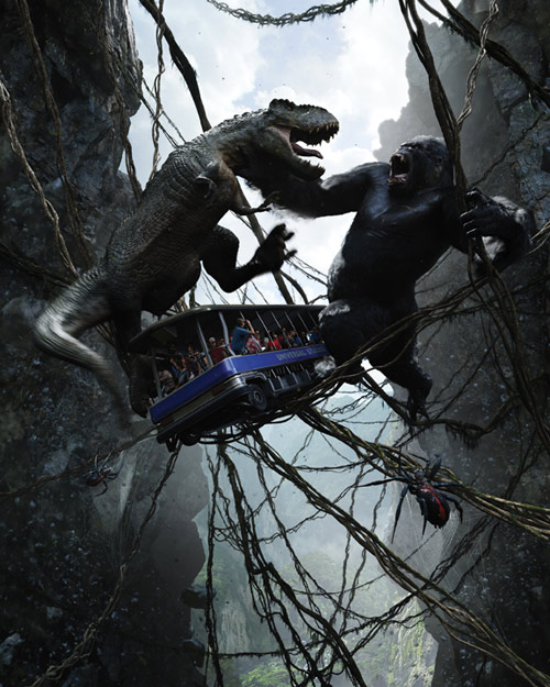 T J Kong Ride The Bomb: King Kong 360 3D Created By Peter Jackson