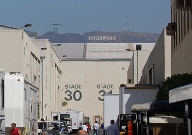 Stages 30 & 31 with the Hollywood sign in the background (2008)